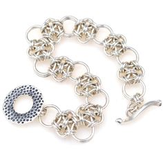 JAPANESE CROSS BRACELET Chainmaille Class | Chicago Dec. 21, 2013 | Rebeca Mojica | Blue Buddha Boutique