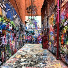 Ann Arbor graffiti alley