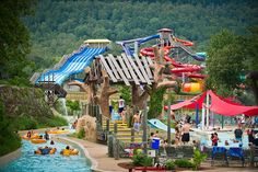 MAGIC SPRINGS & CRYSTAL FALLS (Hot Springs, AR) offer two parks for the price of one. Magic Springs offers over 80 attractions including Arkansas Twister roller coaster and thrill rides such as Plummet Summit and The Gauntlet; named as one of the three most family friendly parks in the nation by Better Homes and Gardens magazine. Crystal Falls includes Crystal Lagoon, three body-only slides, four tube slides, Crystal Falls Wave Pool, a lazy river and Bear Cub Bend for smaller children.