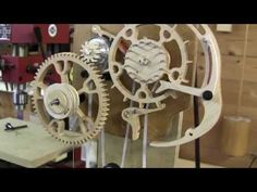 Brian Law's woodenclocks - Clock 23 - The crooked clock - YouTube