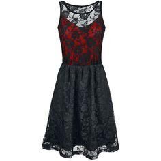"Black Premium by EMP Robe mi-longue, Femme ""Darling Dress"" rouge • EMP"