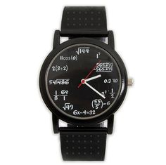 Equation Watch - Confuse lesser beings with your 1337 math skills