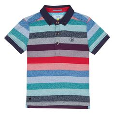 This polo shirt from the Baker by Ted Baker childrenswear range will add a splash of colour to a little one's wardrobe. Made from cotton rich fabric for a super-soft feel, it features a bold striped finish with a neat button down collar. Perfect for smartening up a boy's casual collection.