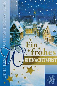 Eine klassische #Weihnachtskarte mit Schnee, Kirche, Sternen... 💫💫💫Kommt garantiert gut an! 👍 Artwork, Movie Posters, Movies, White Christmas, Winter Scenery, Snow, Xmas Cards, Windows, Nice Asses