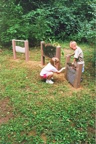 Worm Farm/Ant Farm. this link has 20+ ideas of natural outdoor activities & alternative play structures. some simple & some pretty elaborate. mostly for younger kids.