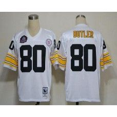 b09ba9d5398 Mitchell And Ness Steelers  80 Jack Butler White Stitched NFL Jersey Afc Nfl