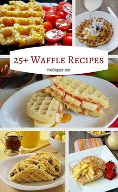waffle recipes - waffles never tasted so good. Yummy Waffles, Breakfast Waffles, Breakfast Dishes, Breakfast Recipes, Savory Waffles, Mexican Breakfast, Pancake Recipes, Pancakes, Making Waffles