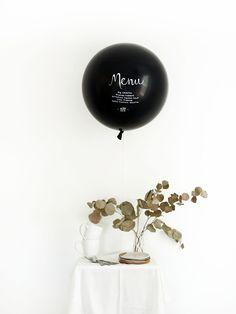 DIY Menu Balloon Tutorial