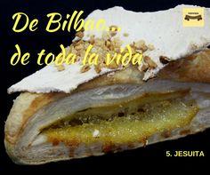 El número 5 de los 10 pasteles típicos de Bilbao: el jesuita. Sólo hemos encontrado una referencia sobre su origen, y la tenéis en este enlace (http://www.biscayenne.com/…/jesuitas-de-bilbao-portugal-y-t…) También hemos leído que los jesuitas se llaman así porque a pesar de ser secos por fuera, tienen algo por dentro ;) Los nuestros son espectaculares. Disfrutadlos. #pastelería #urrestarazu #ventaonline #envíoadomicilio #jesuita #deBilbaodetodalavida