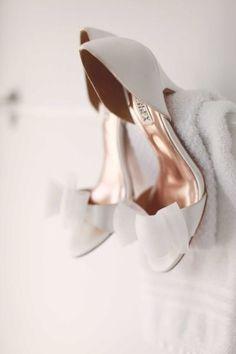 Badgley Mischka. Just a little wedding-like. #WeddingShoes | #AislePerfect