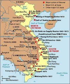 map of vietnam from 1965. Glen Tanner from Beyond the Moon ...