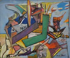 Paul Burlin (1886 - 1969) Magic is the Painting, 1946 oil on canvas 20 x 24 inches signed at lower right