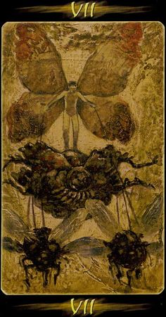 VII. The Chariot - Tarot of the Secret Forest by Lucia Mattioli