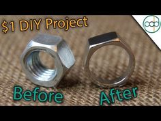 Making a Hex Nut Ring Using BASIC Tools ( DIY ) Video Description In this video, Patrick Adair designs a ring out of a basic hex nut. This hex nut ring is made using only basic tools (all you need is a Dremel) making it the perfect at home DIY project to try! My Website: Instagram: Facebook:...