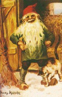 """Tales of Faerie: Jultomten """" Jultomten In general, our modern Santa Claus came from a historical figure, St. Nicholas. But in Sweden, their Santa Claus figure was actually once a house elf."""""""