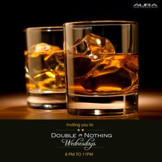 Experience true happiness! #Aura invites you to a night of Double or nothing on Chivas and Absolut tonight!