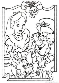 Christmas Disney Coloring Pages 48