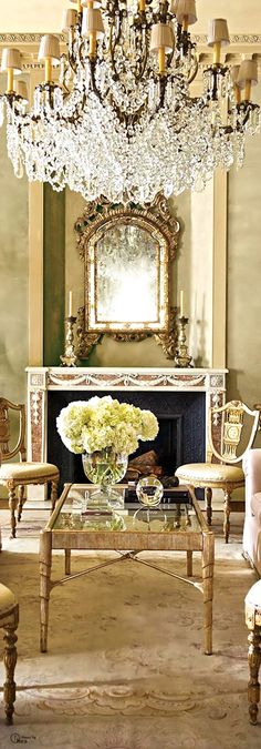 ♜ Shabby Castle Chic ♜ rich and gorgeous home decor - living room