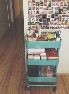 raskog ikea cart for sewing/office supplies