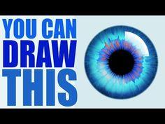 Eye Drawing Tutorials, Drawing Tutorials For Beginners, Digital Painting Tutorials, Digital Art Tutorial, Art Tutorials, Digital Paintings, Iris Drawing, Basic Drawing, Drawing Pics