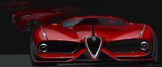 Alfa-Romeo COMPETIZIONE mid-engine supercar project