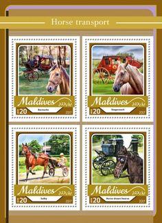 MLD17109a Horse transport (Barouche; Stagecoach; Sulky; Horse-drawn hearse) Horse Transport, Horse Drawn, Maldives, Album, Transportation, Comic Books, Horses, Comics, Stamps
