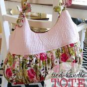 Tied-Handle Tote Bag - free via @Craftsy