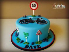 Bicycle Cake - The Quirky Cake Society Bicycle Cake, Bike Cakes, Cake Craft, Cakes For Boys, Birthday Cupcakes, Learn To Cook, How To Make Cake, Cake Designs, Cupcake Cakes