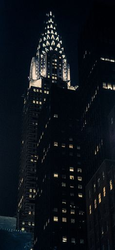 Night in Chrysler Building, NYC