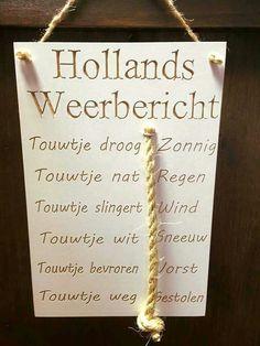 Hollands weerbericht. Ook leuk voor vaderdag