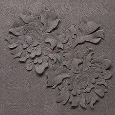 Beautiful rose artistry in this leather Damask sculptural textile❣ Helen Amy Murray • via The Design Sheppard