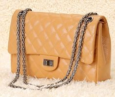 Silver Chain Handbags, Category: 2.55 Reissue, Color: Apricot Elephant Pattern