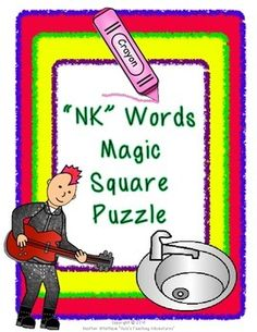 Words Ending with NK Magic Square Puzzle ($)
