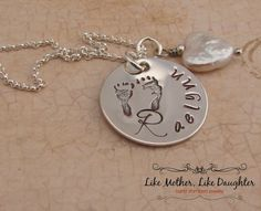 Personalized Serling Silver Foot Prints by MotherDaughterJewel, $47.00