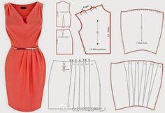 Dress Pattern - re-size for Barbie.