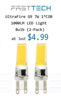 FastTech is offering Ultra Fire G9 7W 1*COB 1000LM LED Light Bulb (2-Pack) at just $4.99. this deal is currently activate on the site. For more FastTech Coupon Codes visit: http://www.couponcutcode.com/stores/fasttech_coupon_codes/