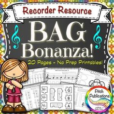 These are awesome!  Great for differentiation - perfect for whole class or use with small groups!   I think I will give them to some of my students for bonus homework.  The puzzle sheet is really neat! #elmused #recorder