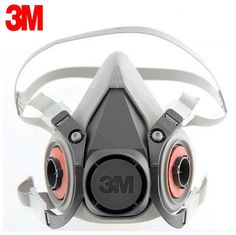61.02$  Buy now - http://alicpe.worldwells.pw/go.php?t=32658583857 - 3M 6100 Reusable Respirator Half Facepiece Respiratory Protection Gas Cartridges Acid Gas Mask LT016