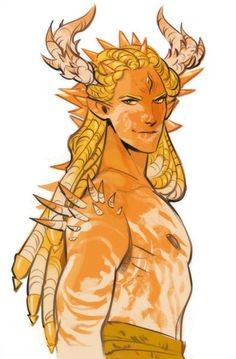 Male mythical horns reference