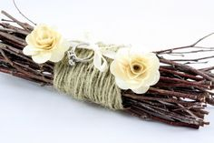 Rustic Twig Ring Bearer pillow