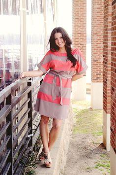 Stripe REAGAN Dress I Kelly's Closet Boutique  #raidkellyscloset