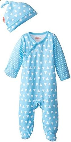 SkipHop Baby Boys Newborn Pop Prints Loungewear Set Triangles Blue New Born. Check website for more description.