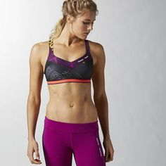 Reebok CrossFit PWR5 Reversible Bra - Purple (M)