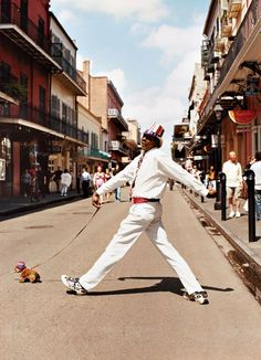 Made up of 78 squares and filled with eighteenth-century colonial architecture, the French Quarter is New Orleans' nucleus, where stylish locals can be spotted walking their stylish pets.