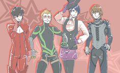 The Persona 5 boys in the girls' outfits Persona Five, Persona 5 Memes, Persona 5 Anime, Fandoms, Ryuji Sakamoto, Ren Amamiya, Otaku, Shin Megami Tensei Persona, Akira Kurusu