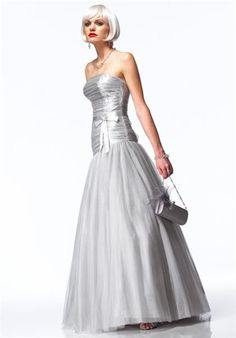 Chi Chi Alyce Designs 3125 Prom Ballroom Pageant Gown in Sparkling Silver or Gold