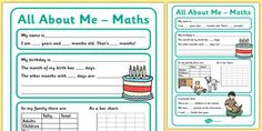 All About Me Maths Display Poster Worksheet Year Interactive Activities, Hands On Activities, Teaching Resources, A Classroom, Classroom Displays, All About Me Maths, Maths Display, Math Class, Lesson Plans