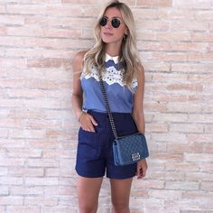 {Denim Lover} #ootd #chloéfeelings | Look @uniquechicoficial e Bolsa @chanelofficial