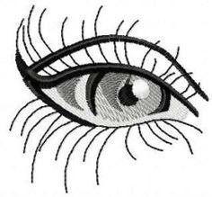 Eye black white free embroidery design