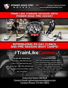 Announcing PA Day Clinic Friday April 15th   #TrainLikeConnor     #PEPHockeyTraining     #AylmerON     #PEPAylmer     Power Edge Pro Hockey Training Aylmer - Google+ Pa Day, Connor Mcdavid, Hockey Training, Pro Hockey, Day Camp, Camps, Clinic, Google, Campsis